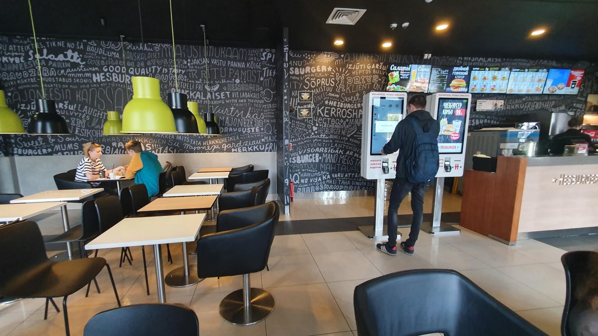 Терминалы самообслуживания для ресторанов Hesburger