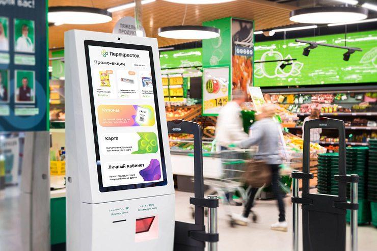 Информационные киоски Q-37 Тачплат в магазинах Перекресток