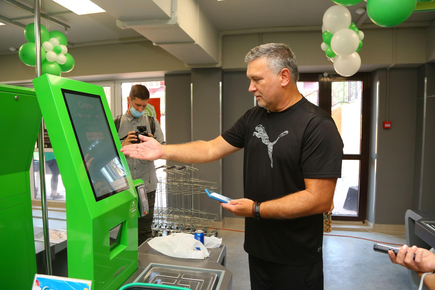 Кассы самообслуживания в магазинах Слата
