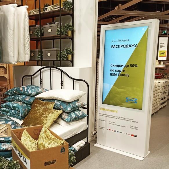 Информационный киоск Тачплат в новом магазине IKEA