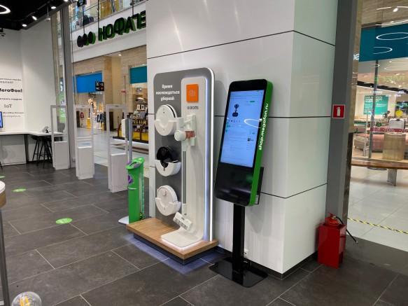 Киоск Q-10 в Experience Store МегаФон